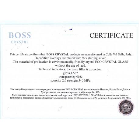 Сет Boss Crystal «ДИРЕКТОРСКИЙ ВОДОЧНЫЙ», графин, 6 рюмок, серебро