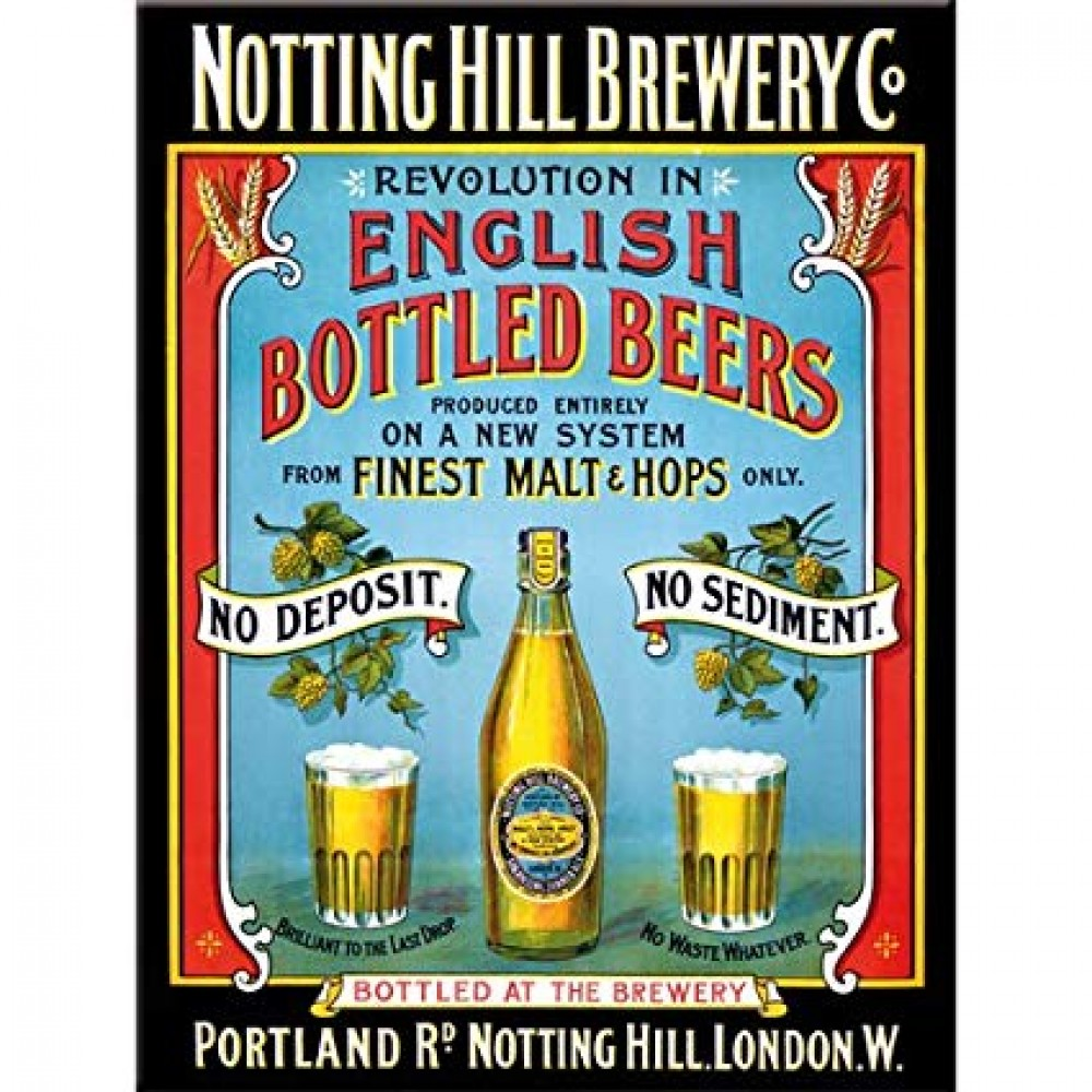Магнит 8x6 см Notting Hill Brewery Nostalgic Art (14066)