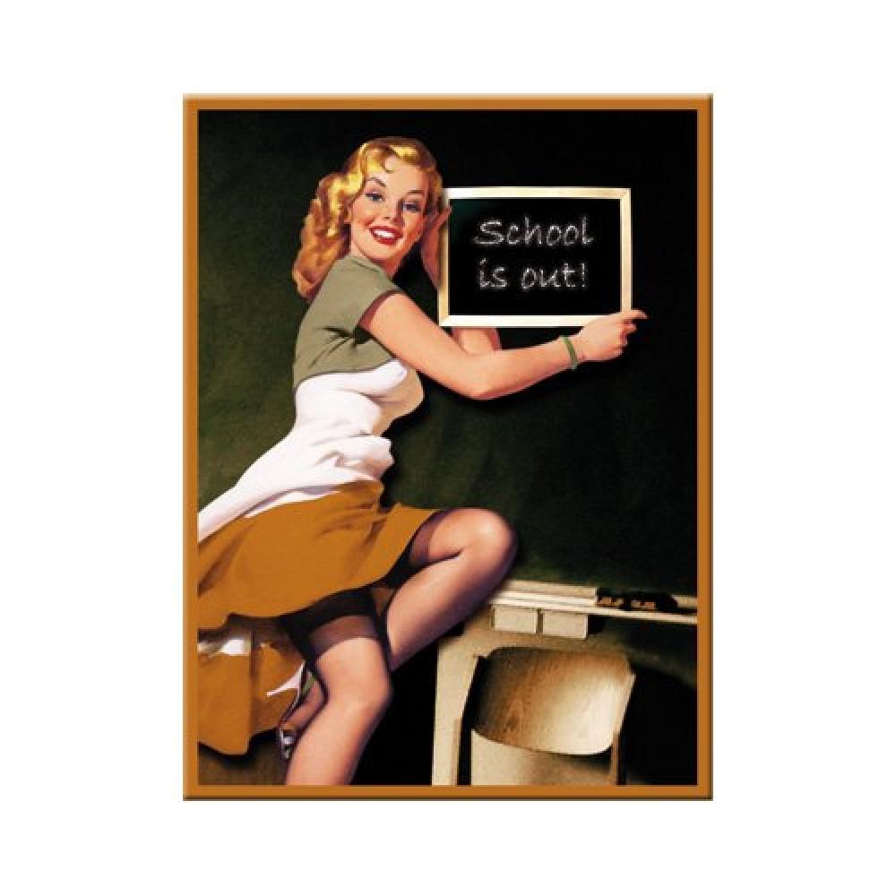 Магнит 8x6 см Pin Up-School Nostalgic Art (14172)