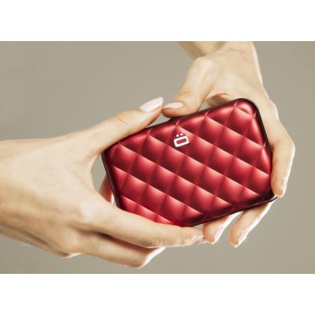 Визитница OGON Quilted Button, красная
