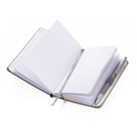 Блокнот с шариковой ручкой Troika Slim серый