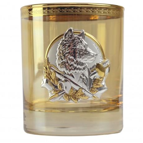 Набор для воды и виски «Лидер Люкс» 6 стаканов с золотыми накладками