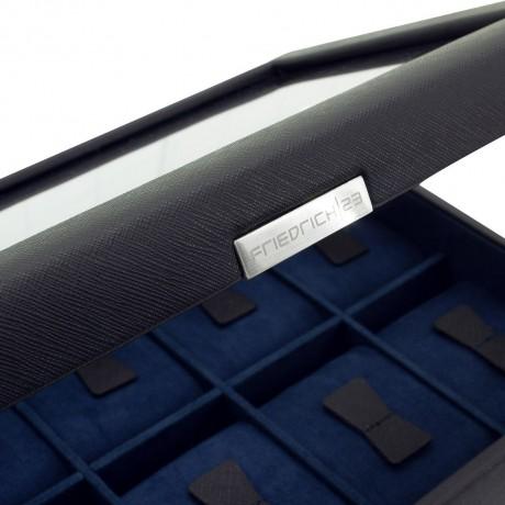 Шкатулка для часов Friedrich Lederwaren «Bond» на 10 часов, черная