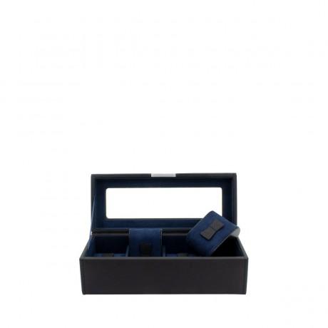 Шкатулка для 4 часов Friedrich Lederwaren «Bond», черная