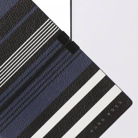Блокнот для заметок Hugo Boss A6 Storyline Stripes Blue