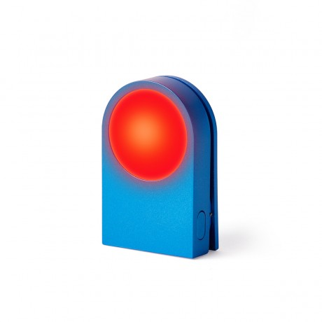 Фонарик-прищепка для безопасности на дороге LEXON LUCIE, синий