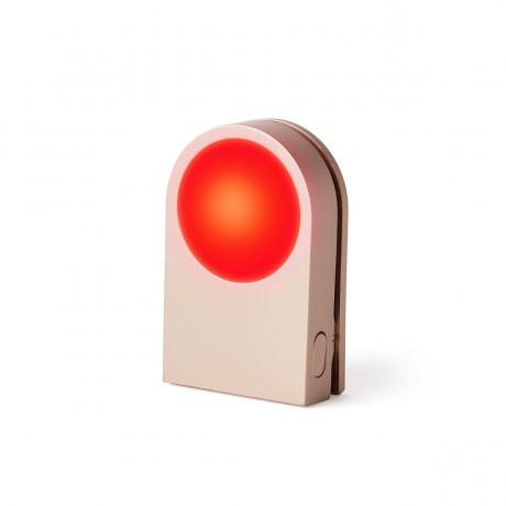 Фонарик-прищепка для безопасности на дороге LEXON LUCIE, золотой
