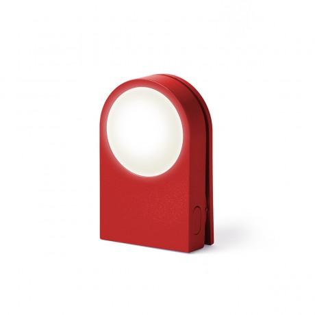 Фонарик-прищепка для безопасности на дороге LEXON LUCIE, красный