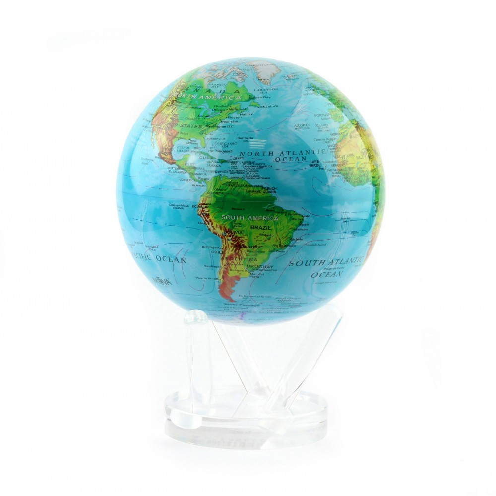 Гиро-глобус Solar Globe Mova Физическая карта 21,6 см (MG-85-RBE)