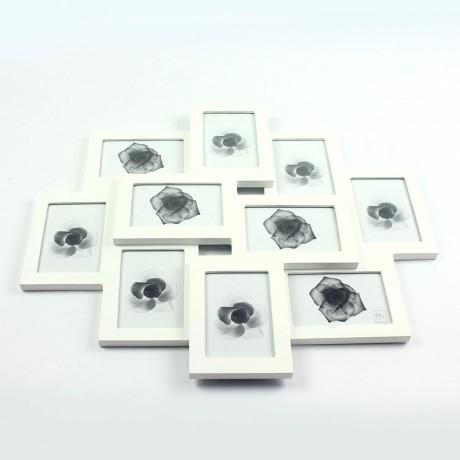 Фоторамка на 10 фото 9x13 см белая