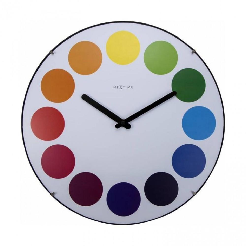"Часы настенные ""Dots Dome"", белые Ø35 см"