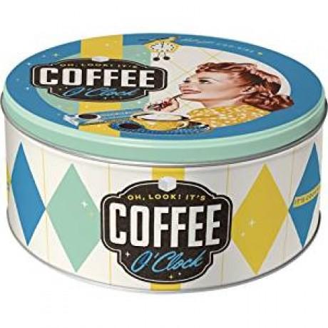 Коробка для хранения Round L Coffee O'Clock Nostalgic Art (30606)