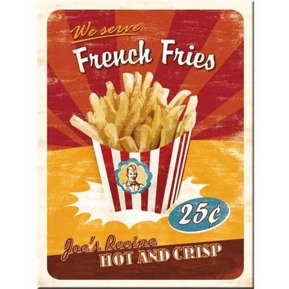 Магнит 8x6 смFrench Fries Nostalgic Art (14231)