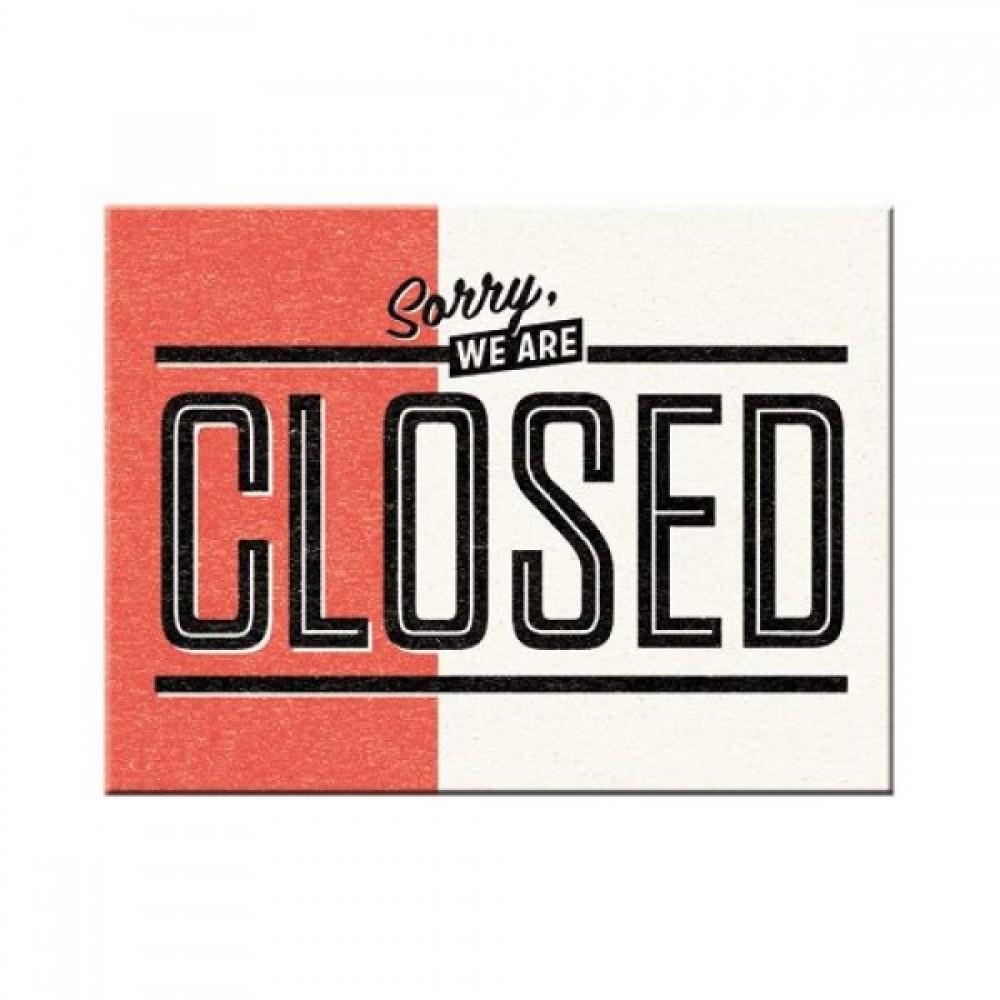 Магнит 8x6 см Sorry, we are Closed Nostalgic Art (14326)