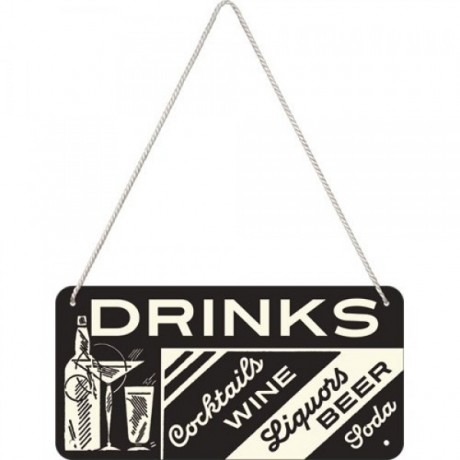Вывеска на шнуркеSing Drinks Nostalgic Art (28010)