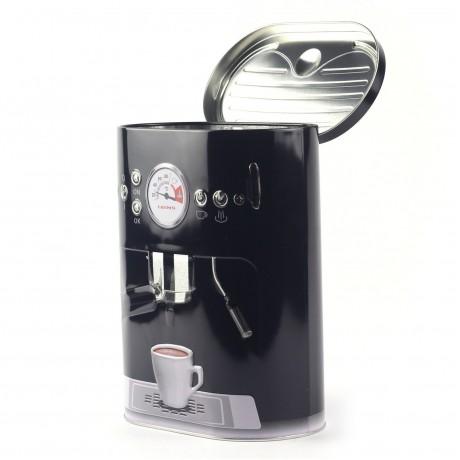 Коробка для кофе Кофе-машина, черная