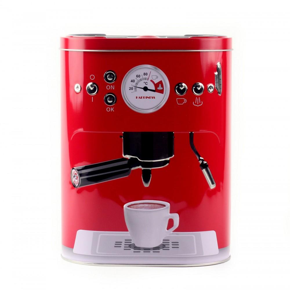 Коробка для кофе Кофе-машина, красная