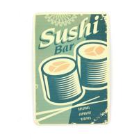 Магнит винтаж Суши, металл, 10 х 8 см