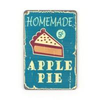 Магнит винтаж Apple Pie, металл, 10 х 8 см