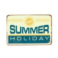 Магнит винтаж Summer Holiday, металл, 10 х 8 см