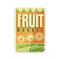 Магнит винтаж Fruit Market, металл, 10 х 8 см