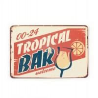 Магнит винтаж Tropical Bar, металл, 8 х 10 см