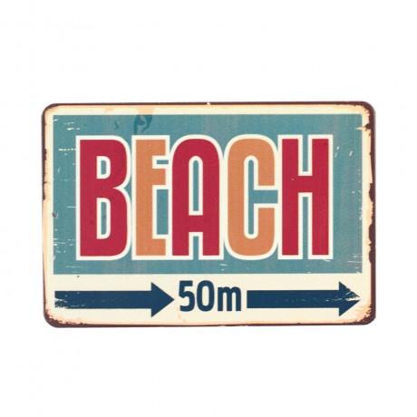 Магнит винтаж Beach, металл, 10 х 8 см