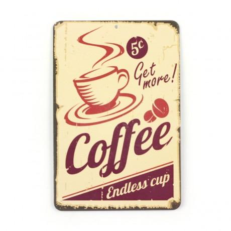 Магнит винтаж Coffe, металл, 10 х 8 см