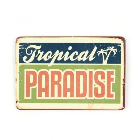Магнит винтаж Tropical Paradise, металл, 10 х 8 см