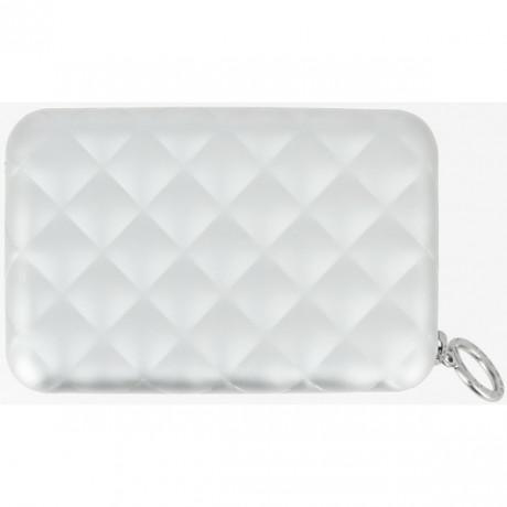 Бумажник на молнии OGON Quilted zipper на 24 карточки, серый
