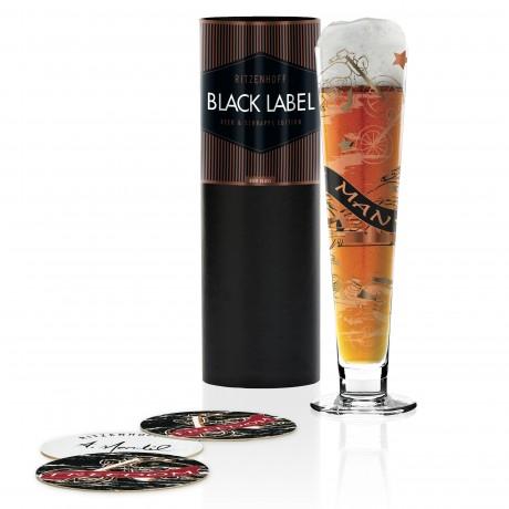 Пивной бокал Ritzenhoff Black Label от Anissa Mendil; 300 мл