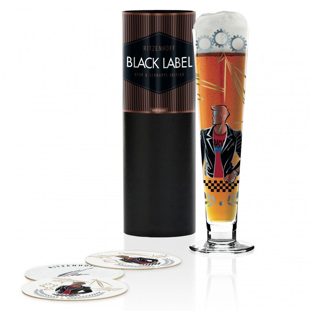Пивной бокал Ritzenhoff Black Label от Horst Haben; 300 мл