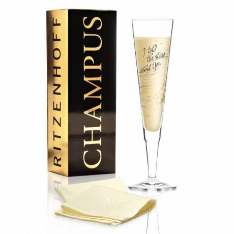 Бокал для шампанского Ritzenhoff от Natalia Yablunovska (Я говорил звездам о тебе) 205 мл