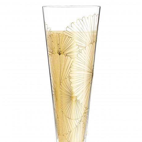 Бокал для шампанского Ritzenhoff  Golden Fans от Lenka Kühnertová, 205 мл