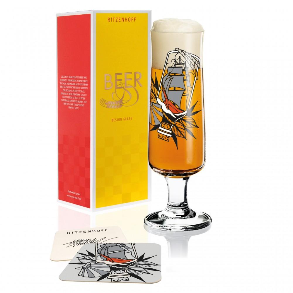 Пивной бокал Ritzenhoff Послание в бутылке от Tobias Tietchen; 390 мл
