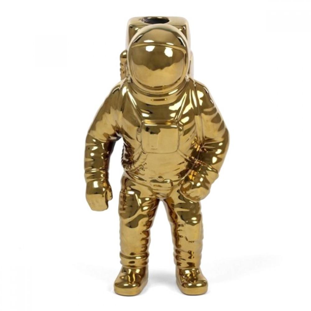 Ваза Seletti АСТРОНАВТ, фарфор «COSMIC-DINER-STARMAN-GOLD»