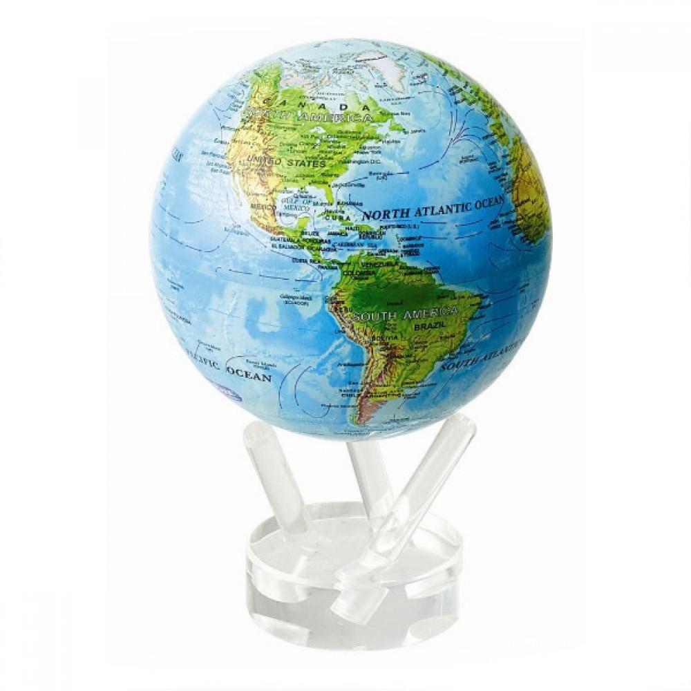 Гиро-глобус Solar Globe Mova Физическая карта Мира 11,4 см (MG-45-RBE)