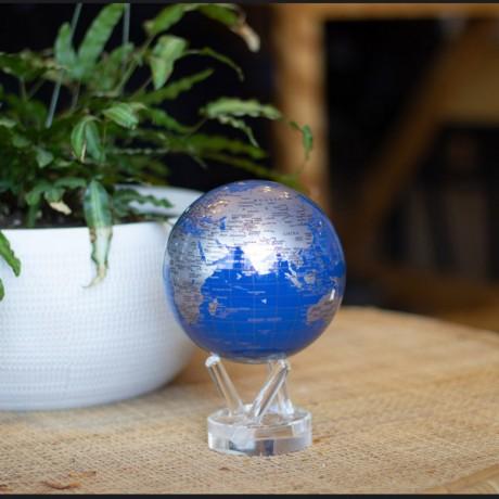 Гиро-глобус Solar Globe Mova Политическая карта 11,4 см серебристый (MG-45-BSE)