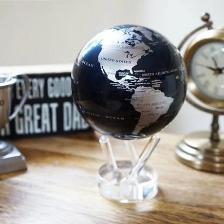 Гиро-глобус Solar Globe Mova Политическая карта 21,6 см серебристо-черный (MG-85-SBE)