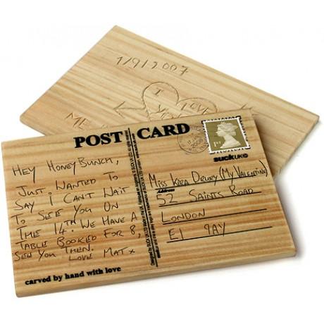 Деревянная открытка Suck Uk CARVECARD