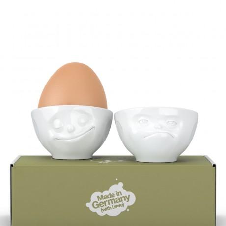 """Набор из двух фарфоровых подставок для яиц Tassen """"Счастье и Хмм"""""""