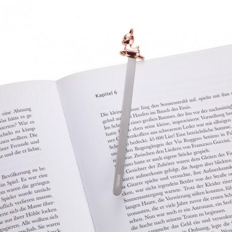 Закладка для книги Troika, олень, розово-золотой