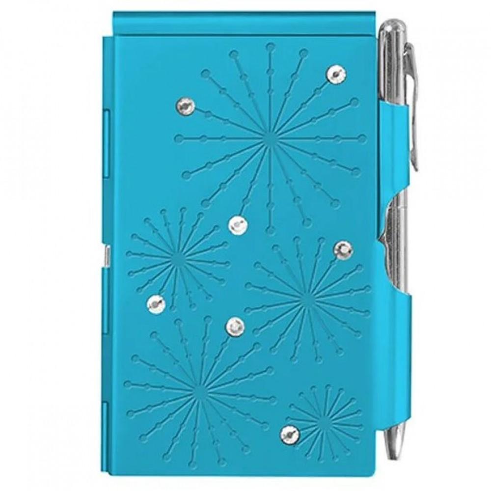 Карманный блокнот с ручкой Troika Glitz Bright Blue