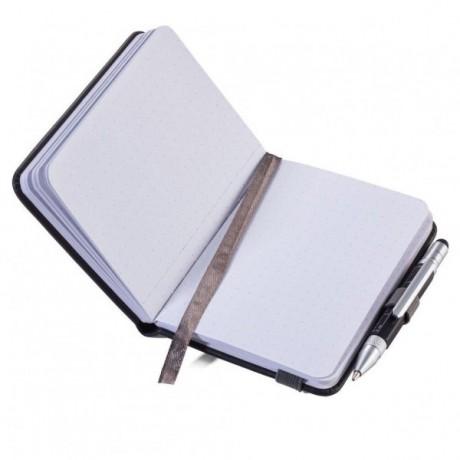 Блокнот Troika Lilipad + ручка Liliput, черный