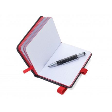 Блокнот Troika DIN A7 LILIPAD + ручка LILIPUT черный/красный
