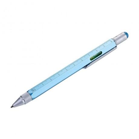 Ручка шариковая Troika Construction со стилусом, линейкой, отверткой и уровнем