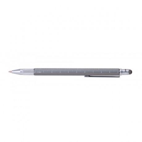 Мини-ручка Troika Construction, титаниум