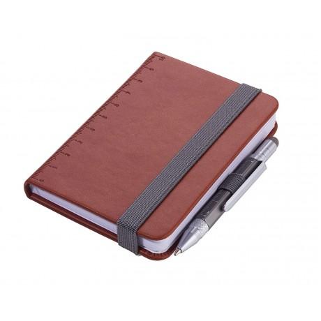 Блокнот Troika Din A7 Lilipad + ручка Liliput, коричневый