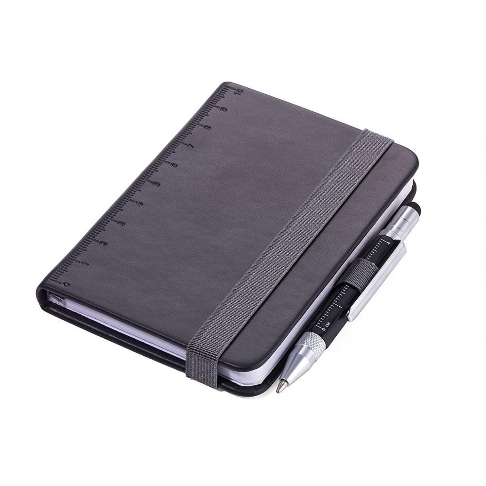 Блокнот Troika Din A7 Lilipad + ручка Liliput, черный