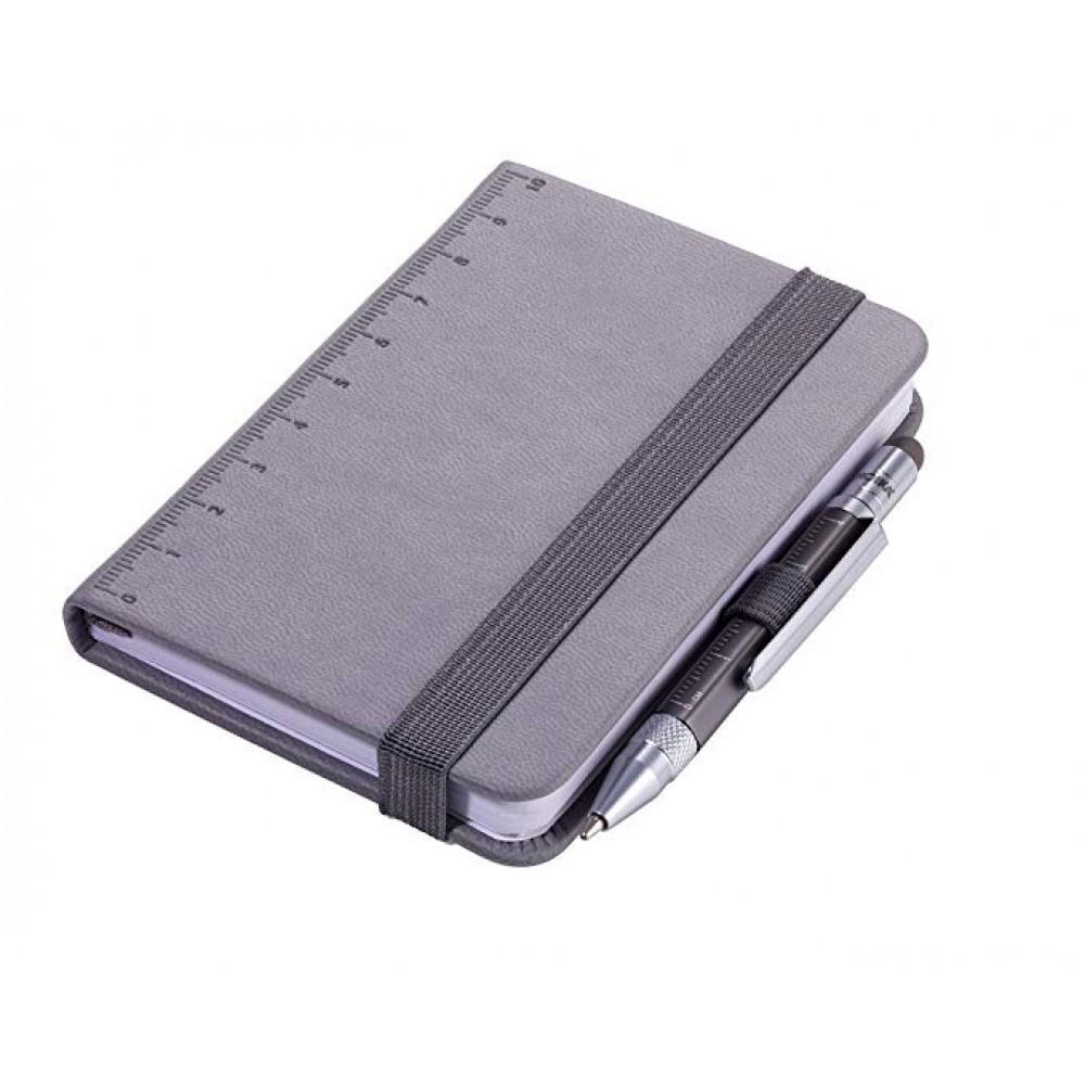 Блокнот Troika Din A7 Lilipad + ручка Liliput, серый